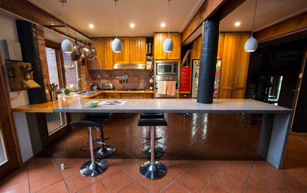 Concrete and Timber Kitchen Design