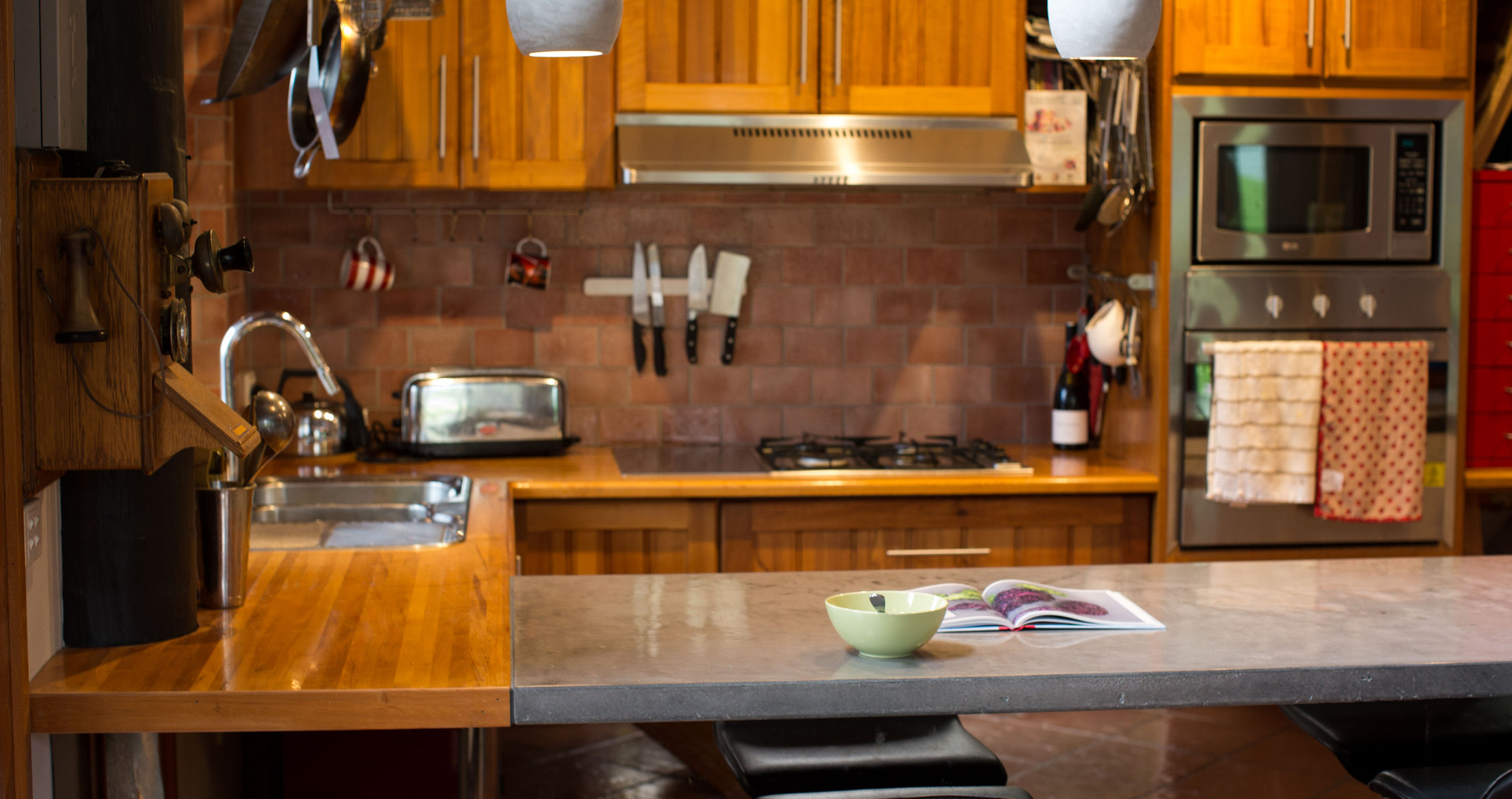Half Timber and Concrete Benchtop