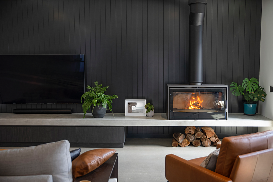Concrete Floating Fire Hearth Fireplace Design