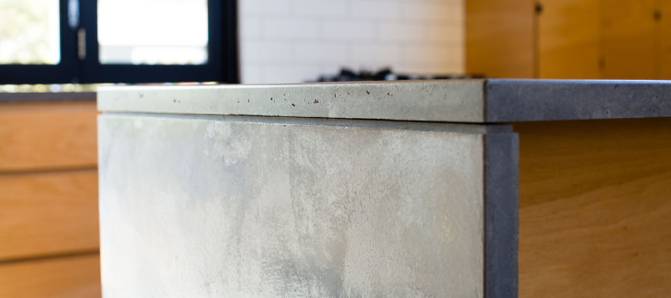 Concrete Kitchen Benchtop with a Shadowline