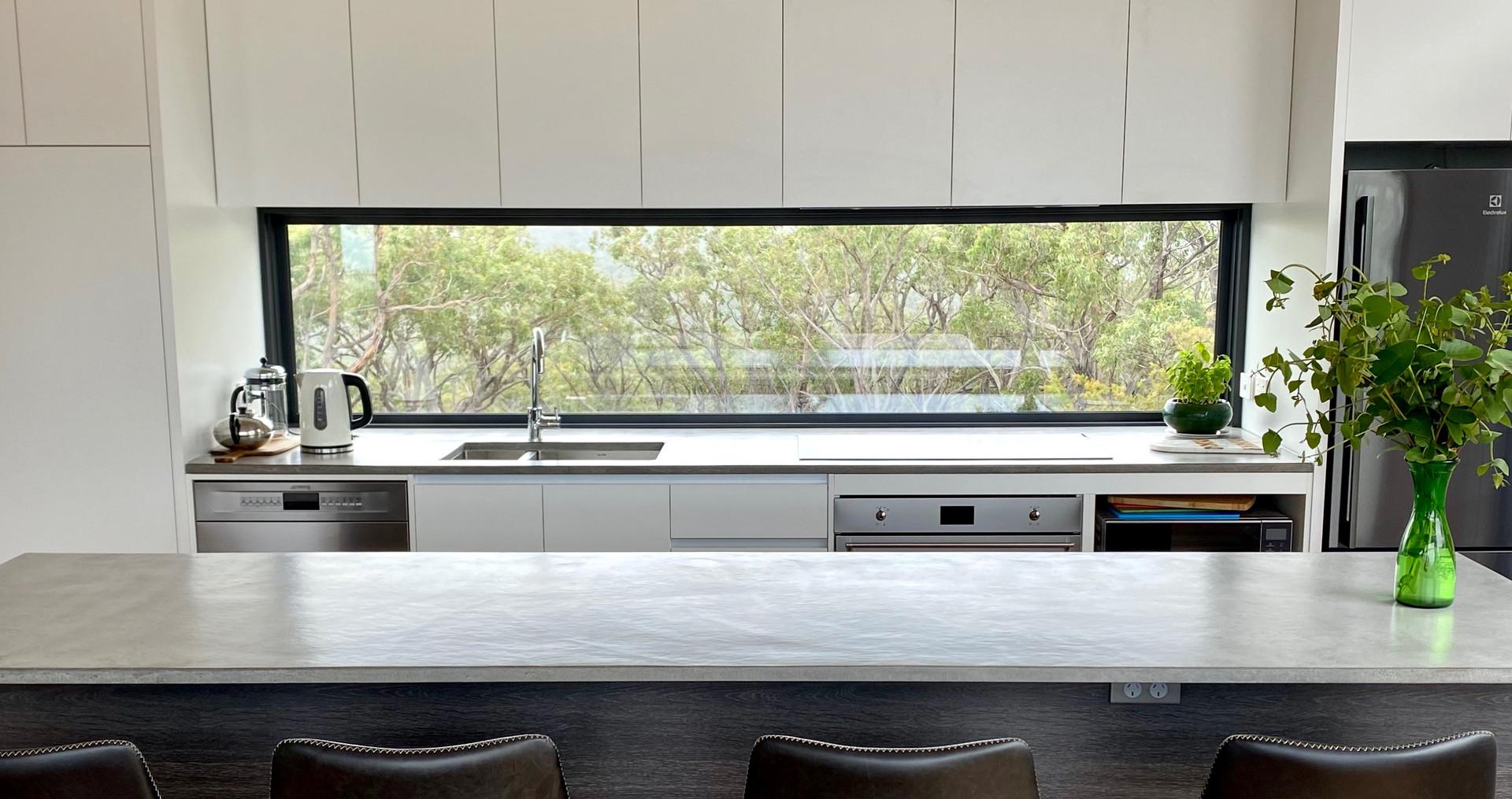 Airey's Inlet - Concrete Kitchen Design