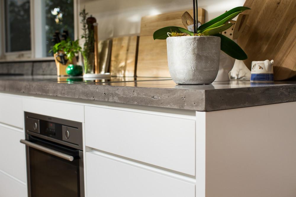 Concrete Kitchen Benchtop Edge Detail