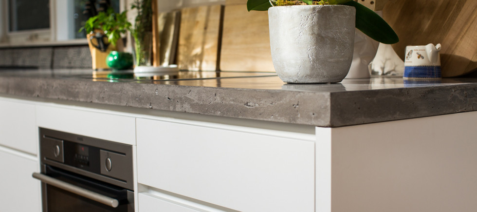 Concrete Kitchen Benchtop Edge Detail