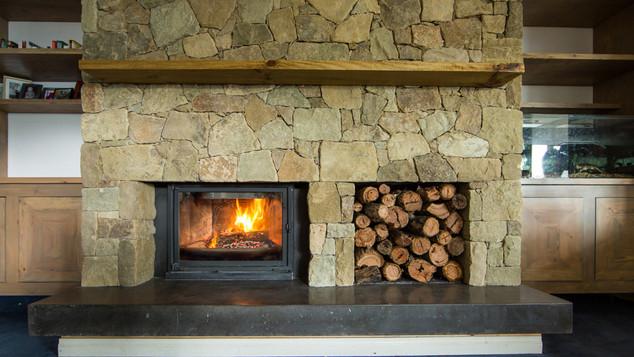Form Concrete Artisans - Dark Charcoal Concrete Fireplace - Bellbrae