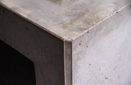 Architectural Outdoor Concrete Kitchen Edge Detail