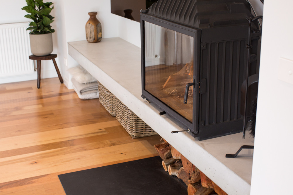 Torquay - Floating Concrete Hearth with Cheminees Philippe
