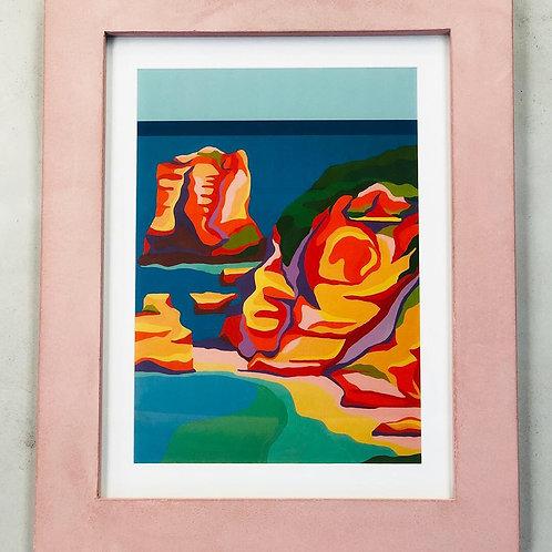 Custom Concrete Frame with a Kathryn Junor Print