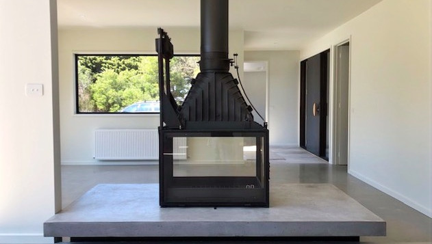 Form Concrete Artisans - Concrete Fire Hearth with Cheminees Philippe - Torquay