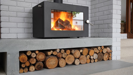 4. Concrete Fire Hearth with Concrete Floor Tile - Geelong