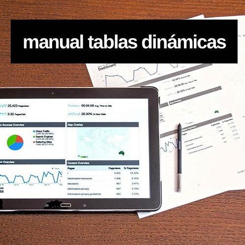 Manual de Tablas Dinámicas - Microsoft Excel