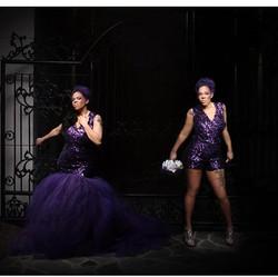 I love nontraditional brides! Sheree loo