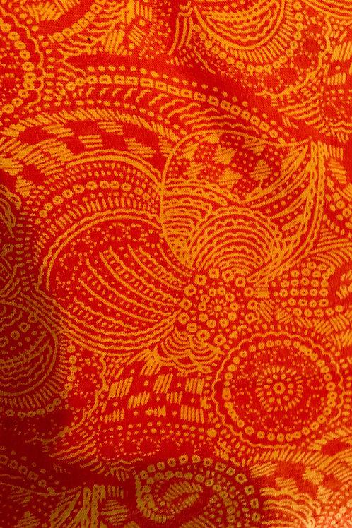 #25 Orange Paisley