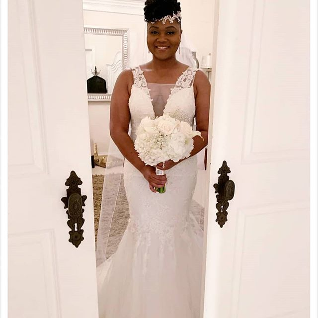 My bridal alterations client looks stunn