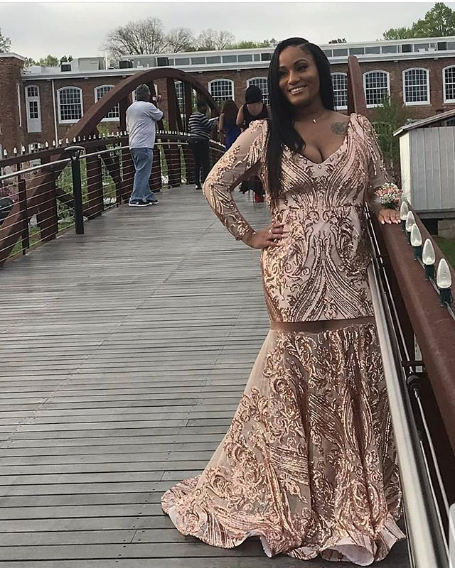 Lamonica looks beautiful in custom prom