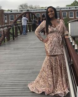 Lamonica looks beautiful in custom prom