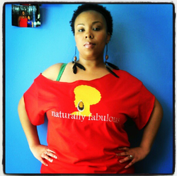 red naturally fabulous tee.png