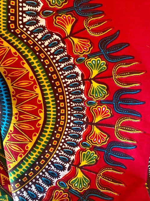 #7 Red/Yellow African Print