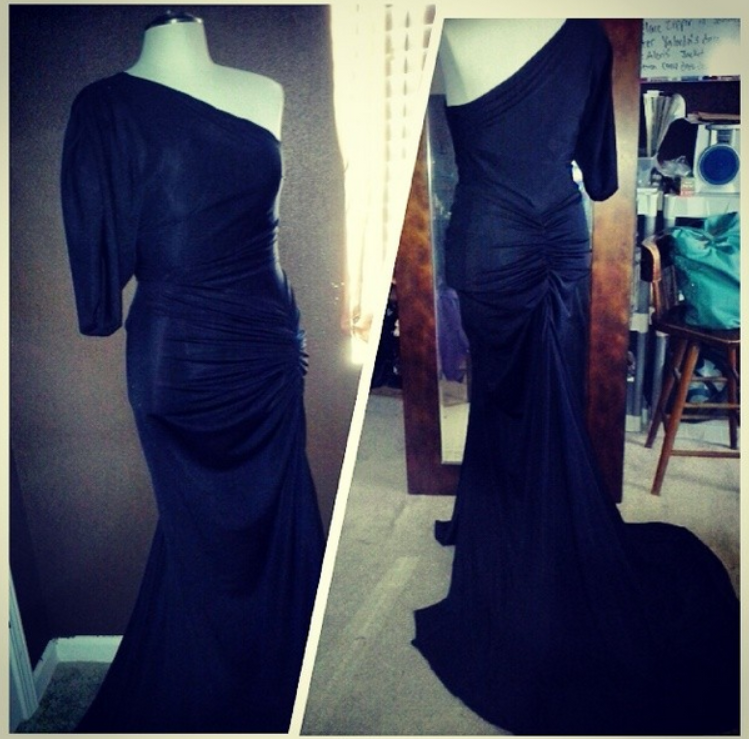 black one shoulder ruched gown.png