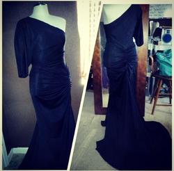 black one shoulder ruched gown.png