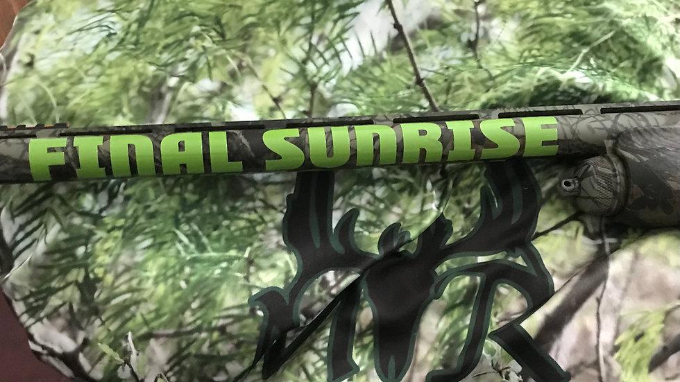 Final Sunrise Game Calls Barrel Sticker