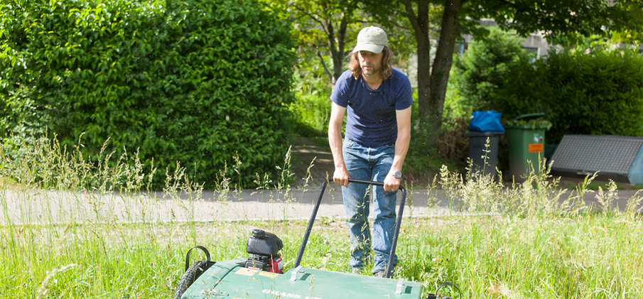 Ernte mit dem Grass Grabber  © Yves Maurer
