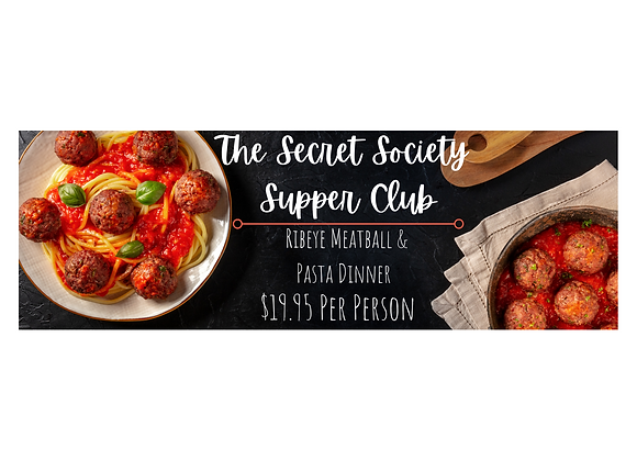 Meatball & Pasta Dinner on Saturday, Feb. 6th 2021