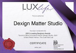 MAApr21084 - Dexign Matter Studio Certif