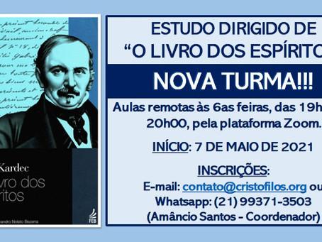 """Estudo Dirigido """"O Livro dos Espíritos"""" - NOVA TURMA"""
