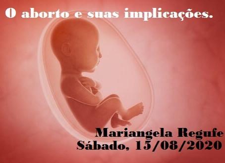 Palestra de Mariangela Regufe pelo Zoom