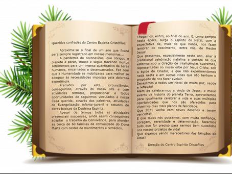 Mensagem de Natal do Centro Espírita Cristófilos