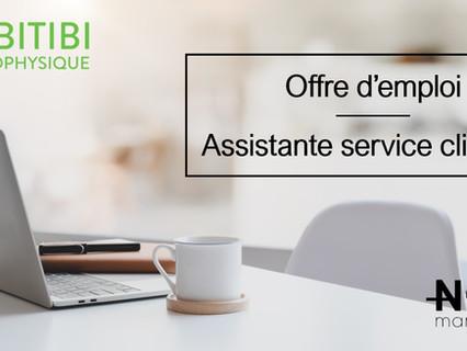 Assistante service clientèle