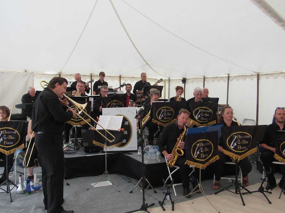 #BelvoirBigBand play Rempstone Steam Fair