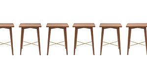 高線凳, 高腳椅, 木材質, bar stool, 環保家具