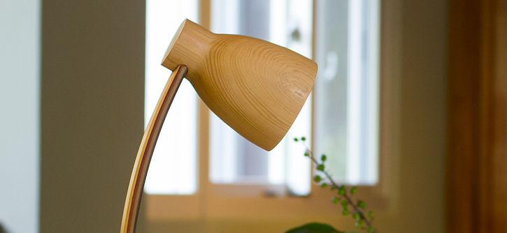小曲燈, 檯燈, 床頭燈, Lamp, wood lamp, 環保材質, 木檯燈, 桌燈, led 檯燈, 黃光