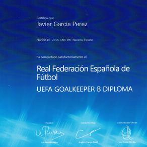Finalized the UEFA Goalkeeper B course
