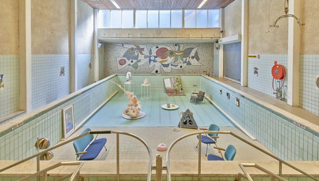 """Living Pool"" exhibition setup"
