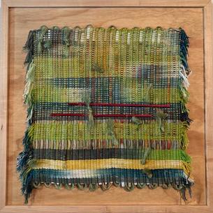 Kim Whitt.  Grass is Always Greener. fiber. 24x24 in. $1,500.jpeg