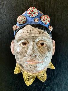 Summer Nation.  Queen Corona. ceramic, mixed media. 9x6x4 in. $300.jpeg