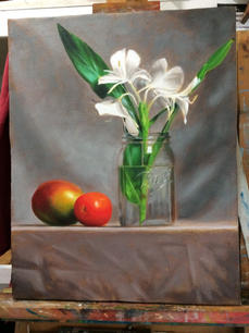 Marshall Polson.  Butterfly Ginger. oil on canvas. 16x20 in. $500.jpg