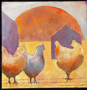 Miriam Wahl.  End of Day. Acrylic on canvas. 12x12 in.. $350.jpg