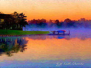 William Edwards.  Early Morning Mist on Lake. photography.16x20 in. $200.jpg