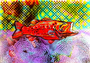Randy Jolly. Red Fish. mixed media. 35x28.5 in. $950.jpg