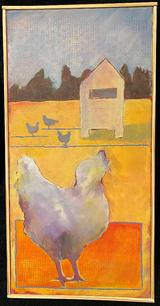 Miriam Wahl.  One, Two, Three...   acrylic on canvas  10 x 20 in.  $350.jpg