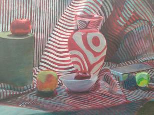 Samuel Lawson. Stripe Painting. oil.36x20 in. $1,100.jpg
