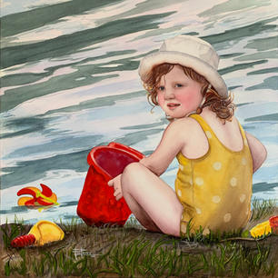 Pam Locke. Sardis Sweetie.  watercolor. 18x18 in plus frame. $975.jpg