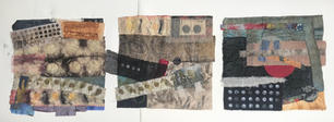 Pat Brown.  Moon Boro (triptych) Dyed and stitched txtiles. 30x90 inches, NFS.jpg