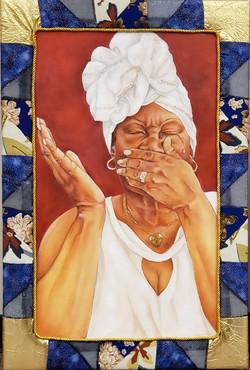 Sondra Hamilton. Nothing But God. mixed media. 24x36 in. NFS