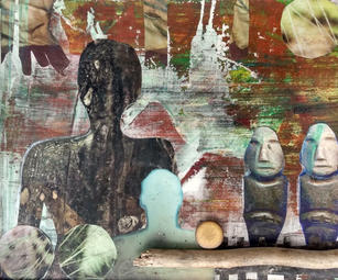 Lesley Silver. Just One More Step. mixed media. 9.5x11.5 in. $350.jpg