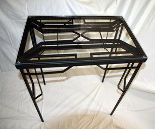 Lauren Bostic. DecoTable. Steel, Glass. 24x16 x28 inches, $390.JPG