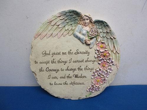Round resin wall hanging serenity prayer